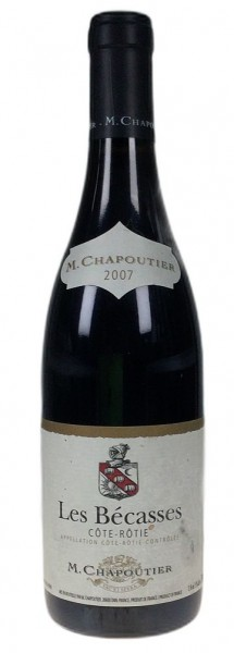 """2007er Chapoutier """"Les Becasses"""" Cote Rotie rouge"""