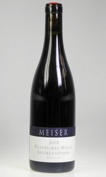 2018er Weingut Meiser Spätburgunder Rotwein Auslese mild
