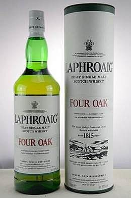 Laphroaig Four Oak cask LITER Islay Single Malt Whisky