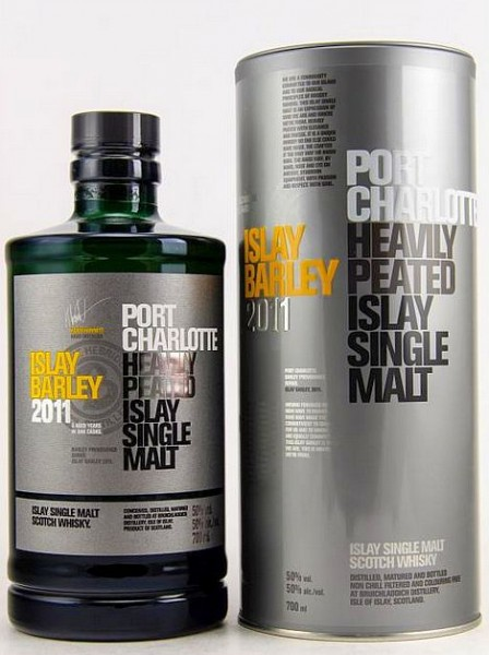 Port Charlotte 2011 Islay Barley heavily peated Whisky