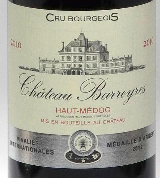 2010er MAGNUM Chateau Barreyres Cru Bourgeois Bordeaux Haut Medoc