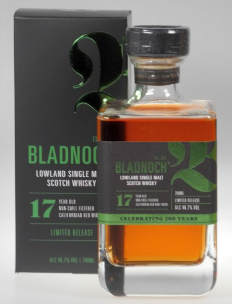 Bladnoch 17years old Single Malt Whisky california Red wine cask