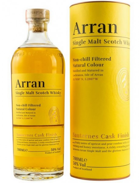 Arran Sauternes Finish Whisky unchillfiltered
