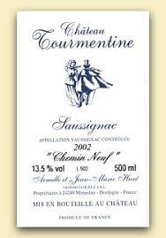 2003er Chateau Tourmentine Saussignac blanc