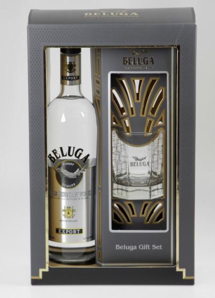 Beluga Russian Wodka Noble Glas Geschenkpackung
