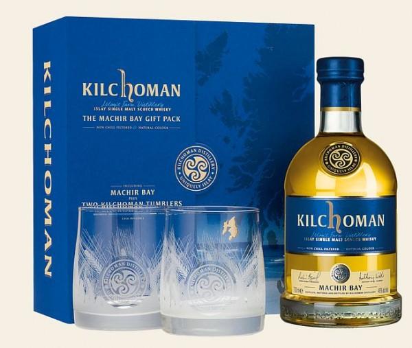 """Kilchoman Geschenkpackung """"Machir Bay"""" mit 2 Gläsern"""