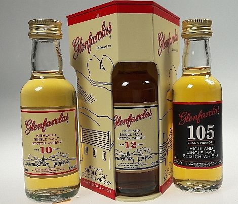 Glenfarclas 3er Mini Set 10/12 years/ 105 Single Malt Whisky