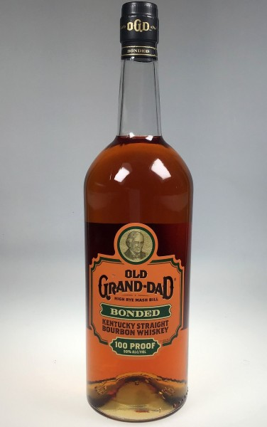 Old Grand Dad bonded LITER 100 proof Bourbon Whiskey