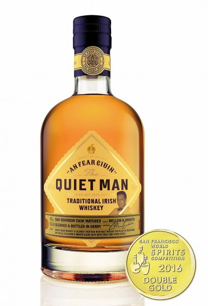 The Quiet Man Traditional Irish Whiskey triple distilled