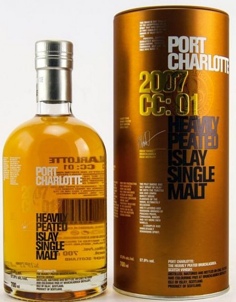 Port Charlotte 2007 CC: 01 heavily peated Whisky