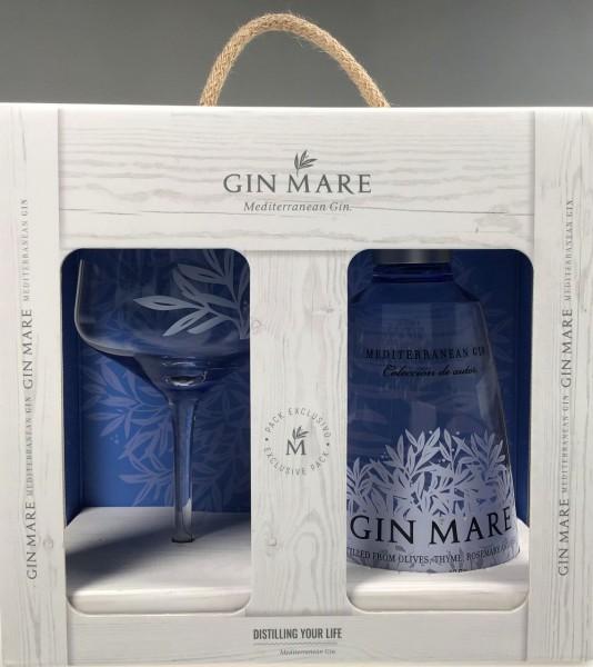Gin Mare mit Glas Geschenkpackung