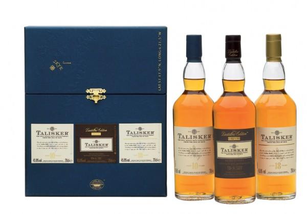 Talisker 3er Set je 0,2l Single Malt Isle of Skye Whisky 2011er Version