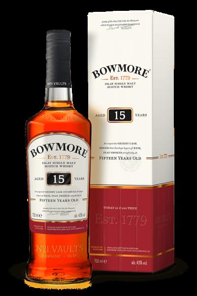 Bowmore 15 years Islay Single Malt Whisky