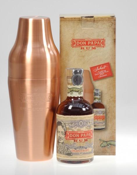 Don Papa mit Kupfershaker Rum Philippinen 200ml