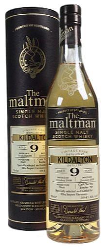Kildalton 9years Maltman unpeated Whisky cask 5066- bottled 2018