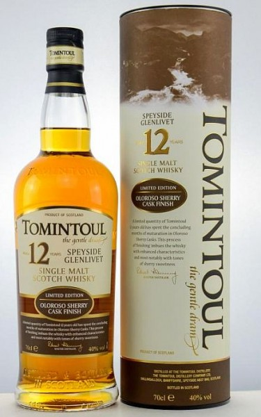 Tomintoul 12 years Oloroso cask Single Highland Malt Whisky