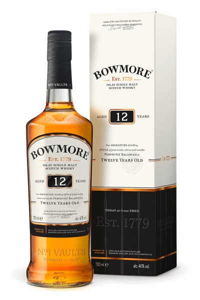 Bowmore 12 years old Islay Single Malt Whisky peated
