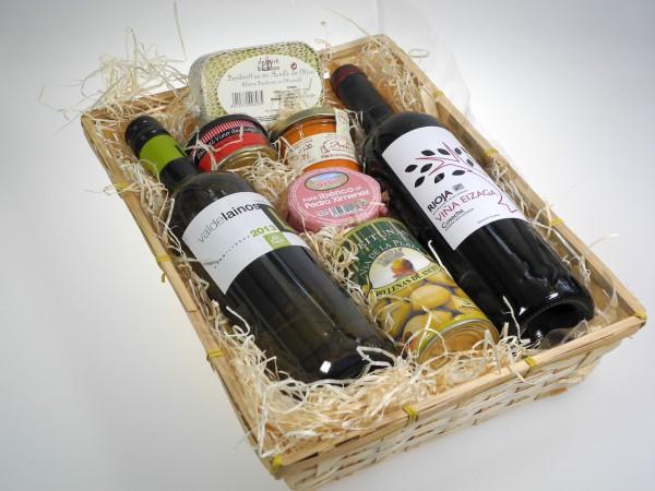 Spanien Präsentkorb Wein & Feinkost