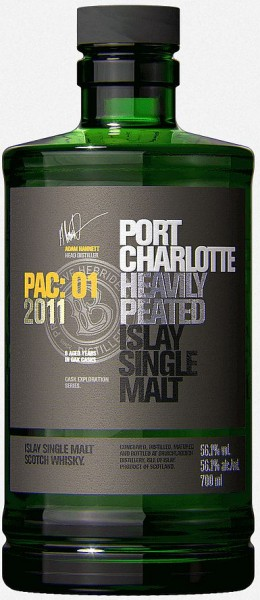 Port Charlotte PAC:01 heavily peated Whisky