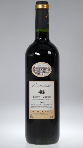 """2016er Chateau Vignol """"Louisiane"""" Bordeaux rouge AOC"""