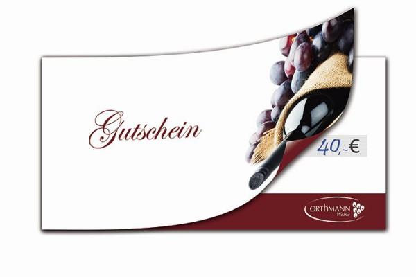 Orthmanns 40.- € Wertgutschein