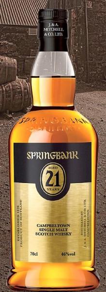 Springbank 21 years Single Malt Campbeltown Whisky