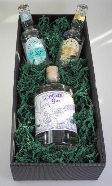Schwebebahn Gin Tonic Präsent - die Wuppertaler Geschenkidee
