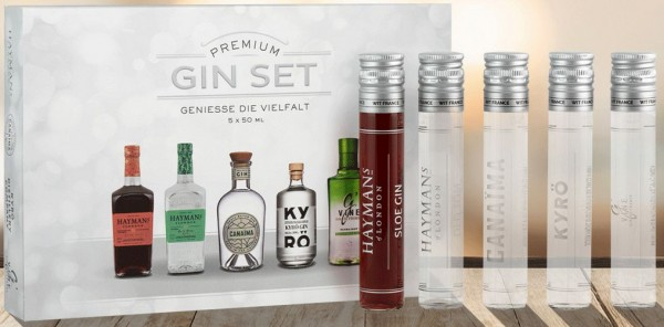 Premium Gin Tasting Set 5er Mini