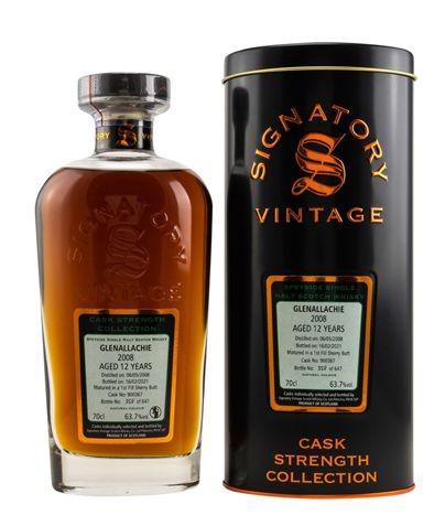 GlenAllachie Signatory 2008/2021 Cask Strength Malt Whisky