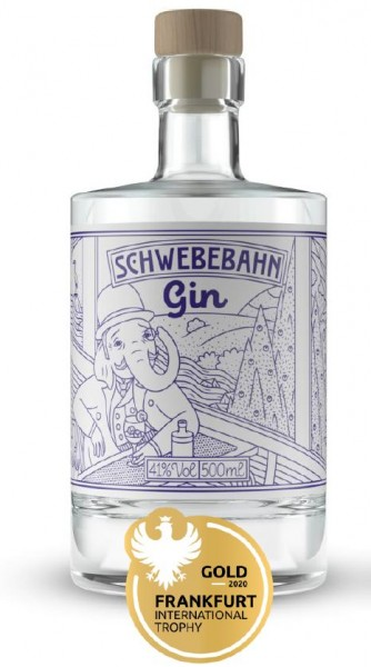 Schwebebahn Gin -blau- leicht & duftig