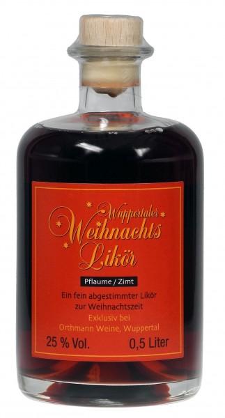 Wuppertaler Weihnachtslikör - ein feiner Plaumen-Zimt-Likör