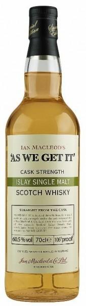 As we get it Islay Single Malt peated Whisky