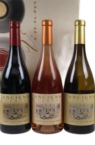 Anciens Temps 3er Weinsortiment Südfrankreich
