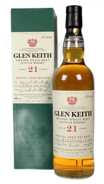 Glen Keith 21 years Single Malt Whisky