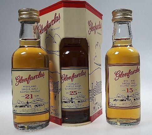 Glenfarclas 3er Mini Set 15/21/25 years Single Malt Whisky