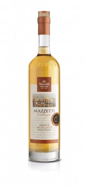 Mazzetti 3 LITER mit Krahn Grappa di Moscato vecchia incl Ständer