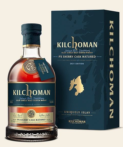 Kilchoman Pedro Ximenez Sherry cask Islay Whisky 2021er Edition