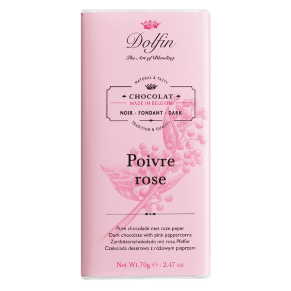 Dolfin Noir Poivre Rosé 60% Schokolade 70g Tafel
