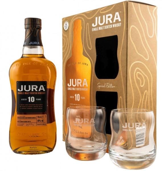 Isle of Jura 10 Single Malt Whisky mit GLAS GEPA