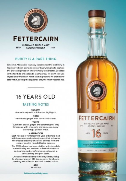 Fettercairn 16 years TRE Release 2020 Single Malt Whisky
