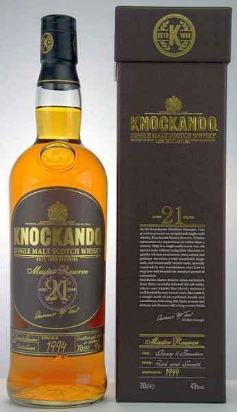 Knockando 21 years old Master reserve single Malt Whisky