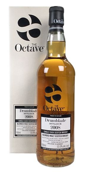 Drumblade Octave Cask 2008 distilled Duncan Taylor 10years
