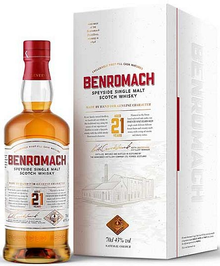 Benromach 21 years Speyside Single Malt Whisky