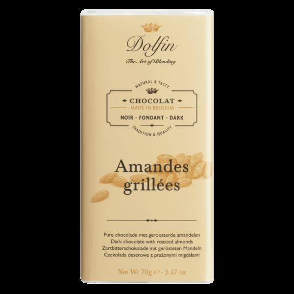 Dolfin Amandes Grillees geröstete Mandel Schokolade 51% Kakao 70g Tafel