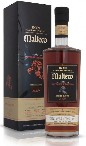 Malteco Rum 2009 small batch Vintage Reserve Panama