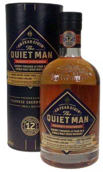 """The Quiet Man """"Sherry finish"""" 12 years Single Malt Irish Whiskey"""