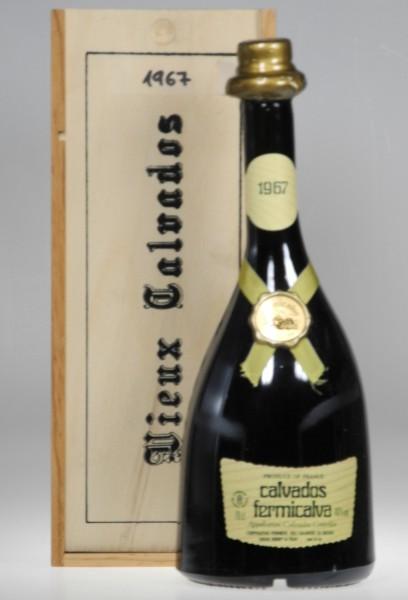 Calvados 1967 Holzkiste AOC Fermicalva