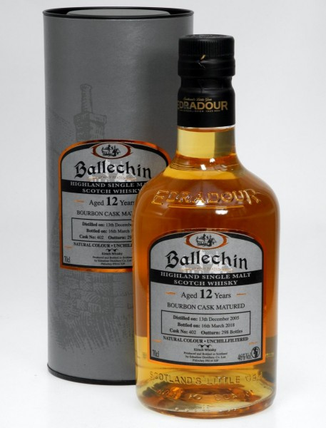 Edradour Ballechin 12 years Edition Bourbon Cask Single Malt