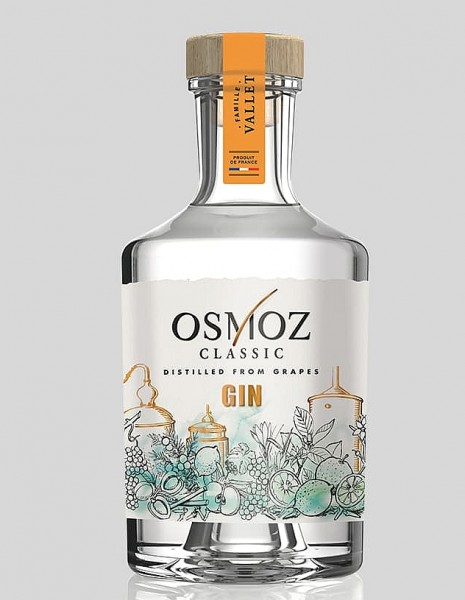 Osmoz Gin classic distilled from Grapes