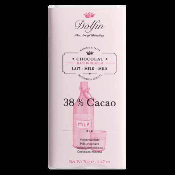 Dolfin Vollmilch 38% Schokolade 70g Tafel